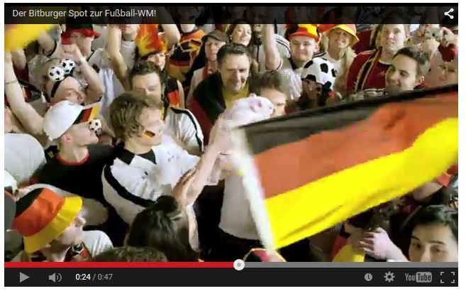 Mario Teschke im Bitburger Spot zur Fußball-WM 2010
