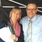 Mario Teschke mit Valerie Niehaus Dreharbeiten Mallorca für Streber - 2