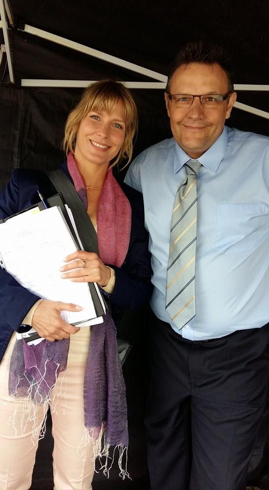 Mario Teschke mit Valerie Niehaus Dreharbeiten Mallorca für Streber